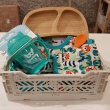 Buenas tardes🧡🧡🧡 Algunos regalos chulis para las meriendas de los peques. Montamos la cesta con lo que más te guste y adaptada a tu presupuesto #mrbambukids #meriendasana #platosilicona #platobambu #mandilon #alimentacioninfantil #baby #kids #ecokids